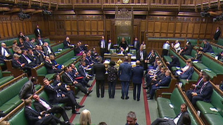 The government finally win a vote in the Commons