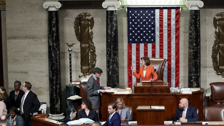 The House voted largely on party lines