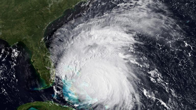 National Oceanic and Atmospheric Administration (NOAA), shows Hurricane Irene on August 25, 2011 in the Caribbean Sea