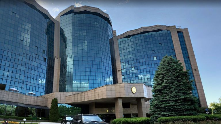 The girl was found dead at the  InterContinental Hotel in Almaty
