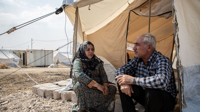Rifaa escaped Syria and paid smugglers $2,000 for her, her husband and three daughters to get into Iraq. Pic: Tom Peyre-Costa/NRC