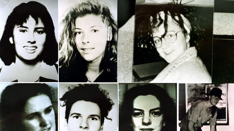 From above (left) Deborah Everest, Australia; Anja Habschied, Germany; Simone Schmidl, Germany; Lower (left to right) Joanne Walters, United Kingdom; Gabor Neugebauer, Germany; Caroline Clarke, United Kingdom; and James Gibson Australia. Victims of Ivan Milat