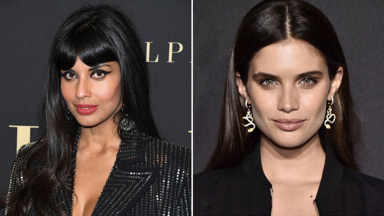 Jameela Jamil has been in a Twitter spat with the model