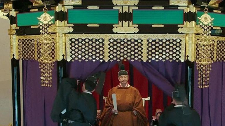 Emperor Naruhito is enthroned in Tokyo