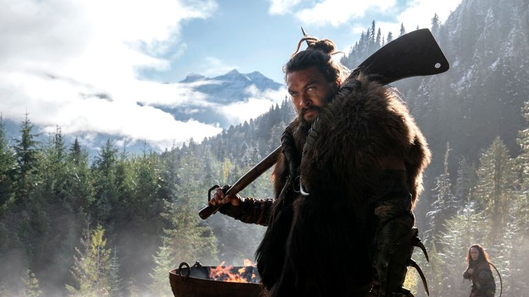 Jason Momoa as Baba Voss in Apple TV+ show See. Pic: Apple TV+