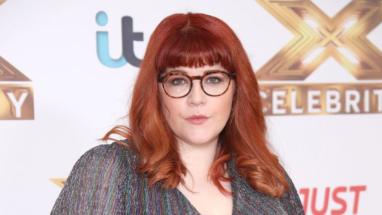 "The Chase star Jenny Ryan attends ""The X Factor: Celebrity"" launch photocall at The Mayfair Hotel on October 09, 2019 in London"