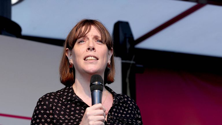 Labour MP Jess Phillips on stage during an anti-Brexit rally in Parliament Square