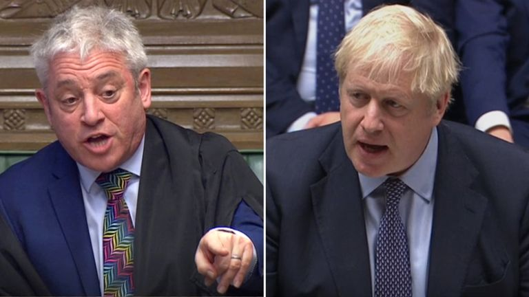 Speaker John Bercow may not approve Boris Johnson's push for a meaningful vote