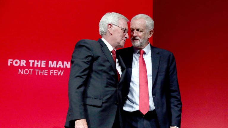 John McDonnell and Jeremy Corbyn