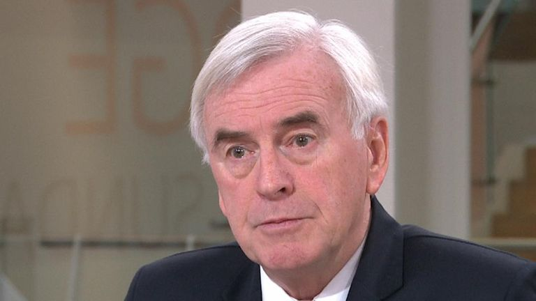 John McDonnell is less than impressed with the prime minister's sending of letters to the EU