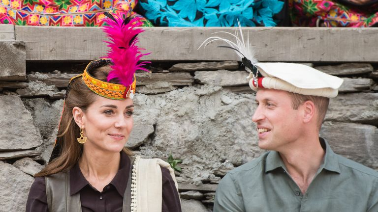 Kate was given a regimental cap of the Chitral Scouts with peacock feathers