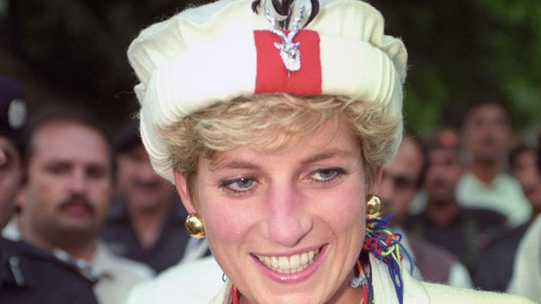 Both Diana and Kate were a Chitral Scouts cap with peacock feathers  .