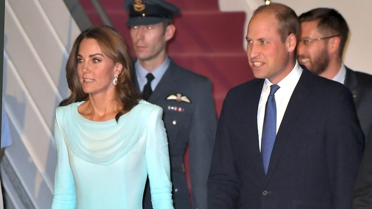 The royals are in Pakistan for a five-day tour
