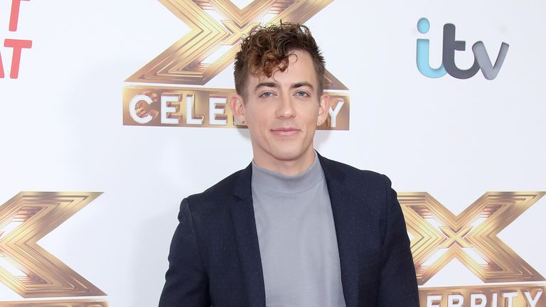 "Kevin McHale attends ""The X Factor: Celebrity"" launch photocall at The Mayfair Hotel on October 09, 2019 in London"
