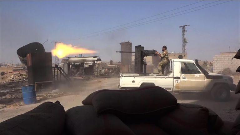 Fighting between Kurds and Turkish backed militia intensifies in northeast Syria