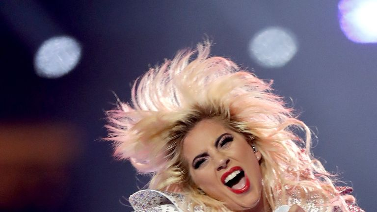 Lady Gaga came a cropper when a fan she'd invited on stage lost his footing