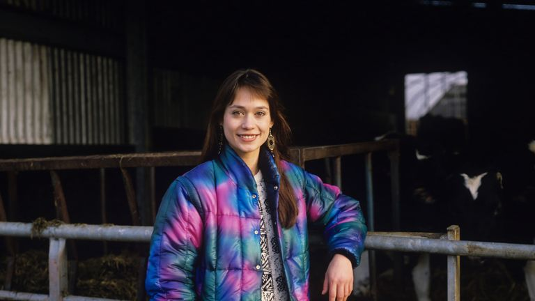 Leah Bracknell on the Emmerdale set in 1989, when she joined the soap