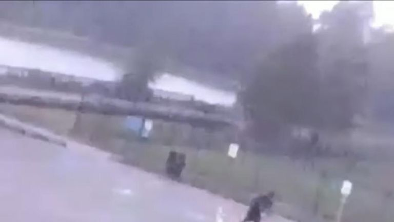A man in Texas was struck by lightning while leaving the park with his dogs.