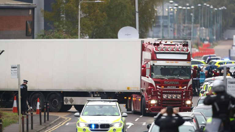 Lorry removed from scene in Essex