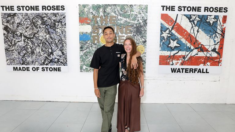 Loyle Carner and mother Jean Coyle-Larner at the Kent & Curwen show during London Fashion Week Men's June 2018 at 11 Floral Street on June 10, 2018