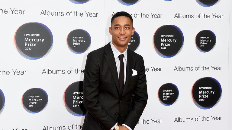 Loyle Carner at the Hyundai Mercury Prize 2017 at Eventim Apollo on September 14, 2017 in London