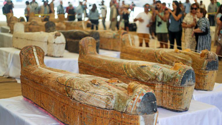 The coffins were of men, women and children