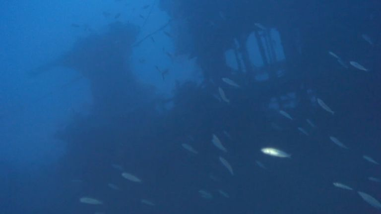 The sub was found at a depth of 130m (426ft). Pic: University of Malta/ /Project Spur/RPM Nautica