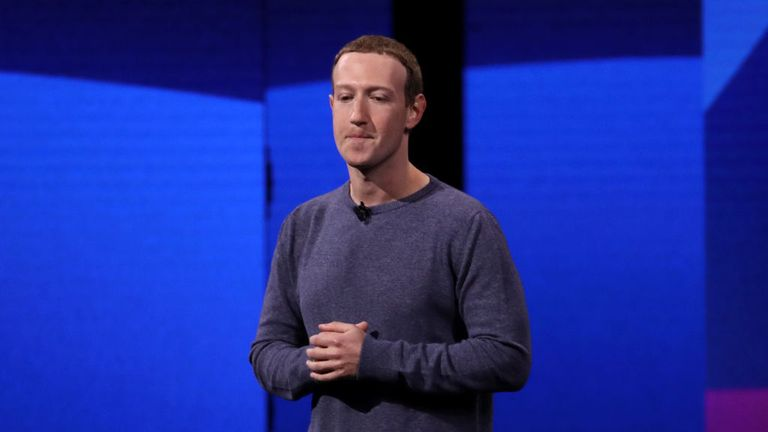 SAN JOSE, CALIFORNIA - APRIL 30: Facebook CEO Mark Zuckerberg speaks during the F8 Facebook Developers conference on April 30, 2019 in San Jose, California. Facebook CEO Mark Zuckerberg delivered the opening keynote to the FB Developer conference that runs through May 1. (Photo by Justin Sullivan/Getty Images)