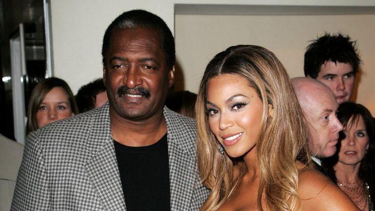 Beyonce Knowles and her father Mathew at the UK premiere of Dreamgirls at Odeon Leicester Square on January 21, 2007
