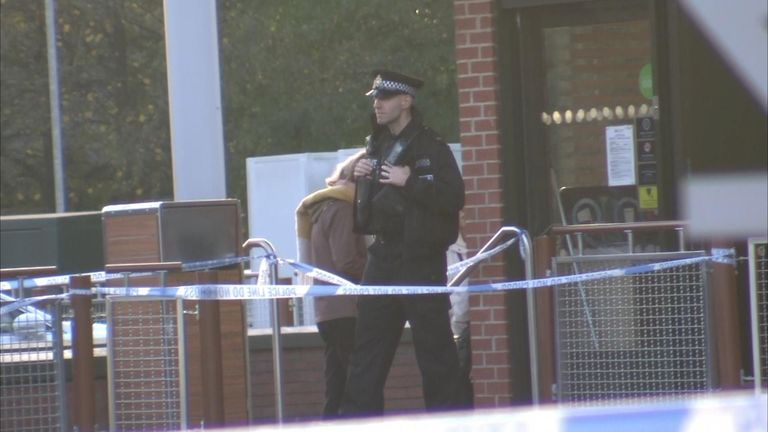 Police were on the scene for much of the afternoon