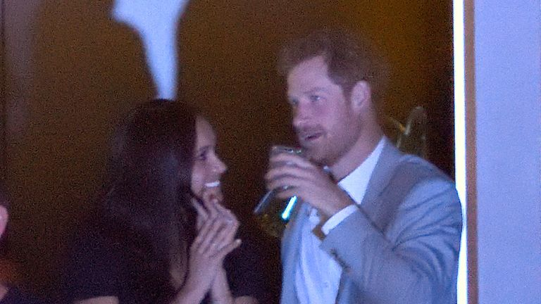 Meghan Markle and Prince Harry at the closing ceremony on day 8 of the Invictus Games Toronto 2017