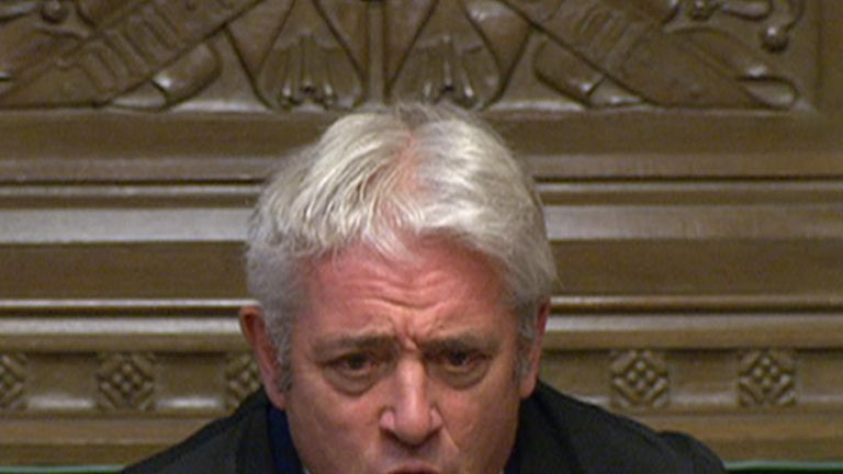 John Bercow calls for the lobby to be cleared as MPs head off to vote for the Letwin Amendment