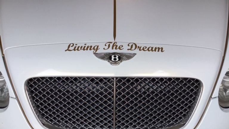 Michael Turlin appears at car shows in his Bentley to talk about mental health