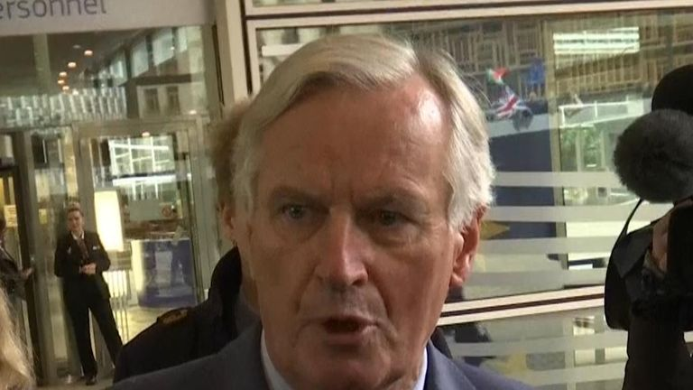 Michel Barnier says he has had 'constructive' talks with the UK