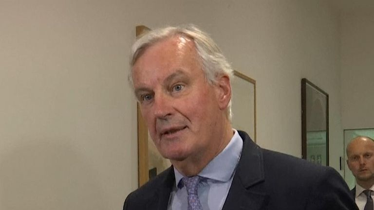 Michel Barnier says progress has been made with the UK, but a lot of work remains
