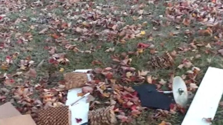 There was debris on the ground after the device landed. Pic: NBC/Nancy Mumby-Welke