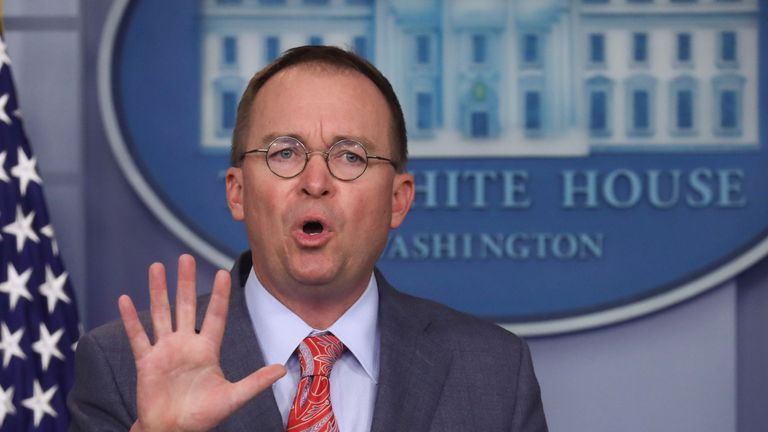 Mick Mulvaney rejected that the White House has been involved in a 'cover-up'