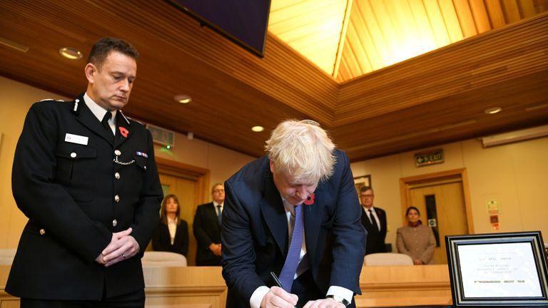 Prime minister Boris Johnson and home secretary Priti Patel have signed a book of condolences in memory of the 39 dead migrants