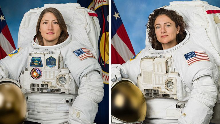 NASA astronauts Christina H. Koch (left) and Jessica Meir (right). Courtesy: NASA