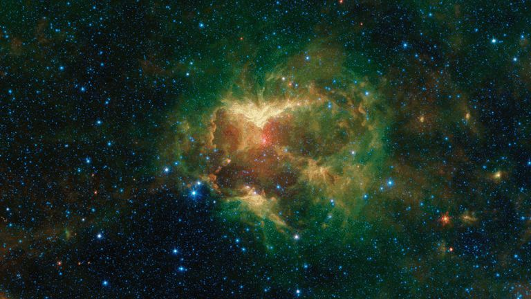 NASA announces discovery of Jack-o'-lantern Nebula