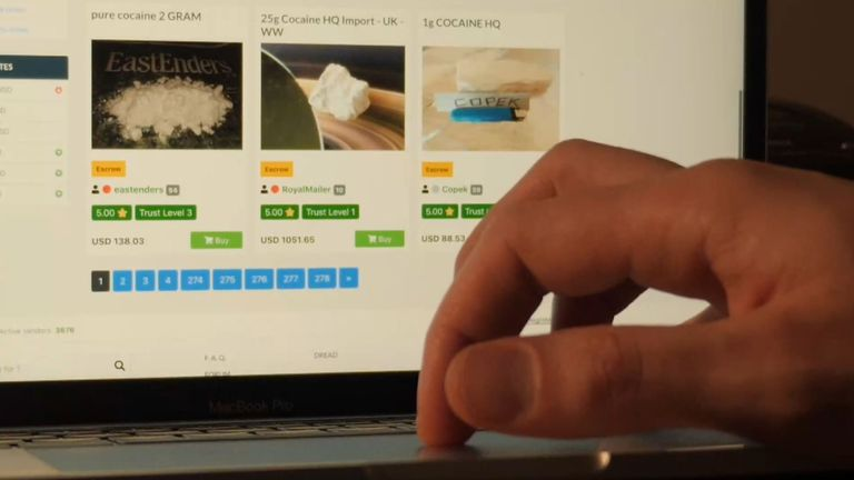 Drug dealers are selling cocaine on the dark web