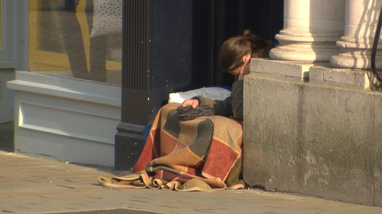 Levels of rough sleeping have risen in rural areas
