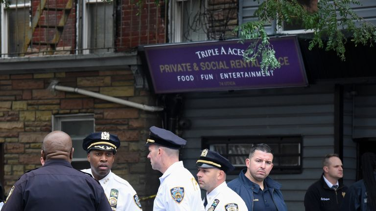 The Triple A Aces social club, where four people were shot dead early on Saturday