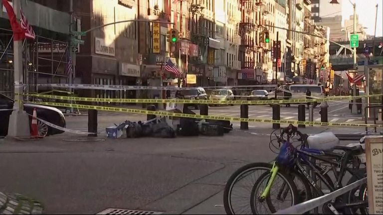 Four men believed to be homeless have been beaten to death as they slept in New York's Chinatown