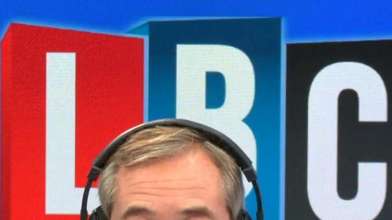 Nigel Farage talks to Donald Trump on LBC