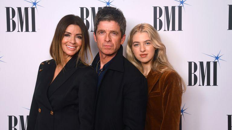 Sara MacDonald, Noel Gallagher and Anais Gallagher at the BMI London Awards