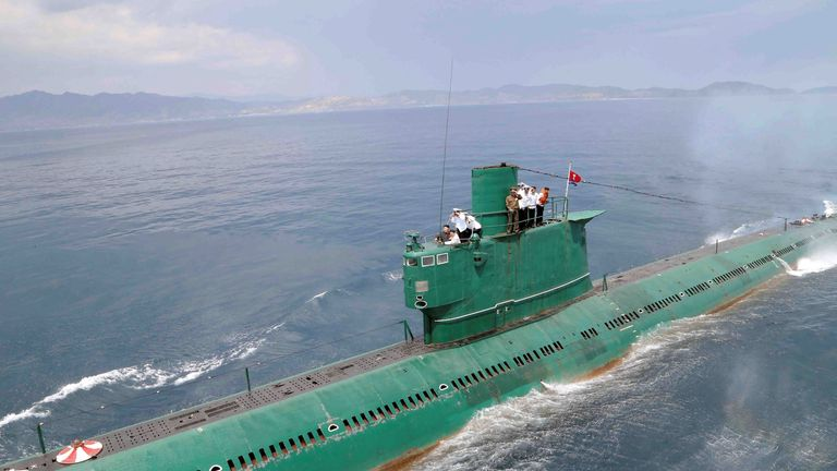 North Korea is thought to have previously carried out submarine missile launches in 2016
