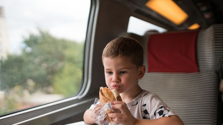 The UK's medical chief wants food to be banned on public transport