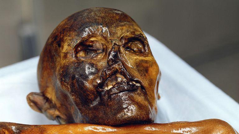 The mummified body known as Otzi