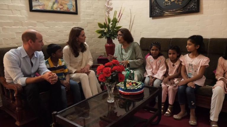 William and Kate at SOS Children Village in Lahore, Pakistan